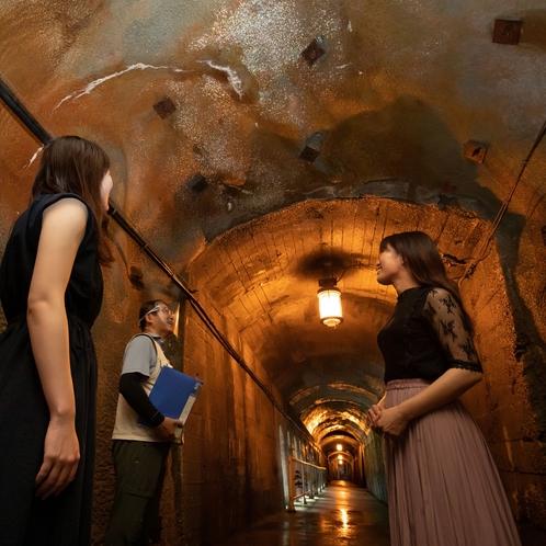 朝の爽やか散歩の風景(トンネル)
