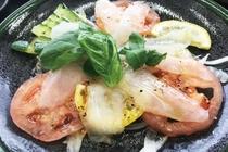 黒部のブランド魚「ヒラメ」のカルパッチョ
