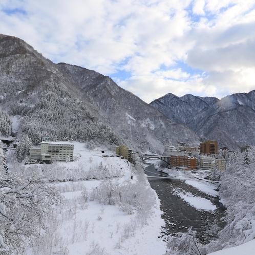 冬の宇奈月温泉