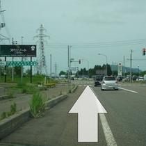 [妙高高原ICから①]妙高高原IC出口で左折。国道18号線を直進。