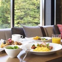 クラブラウンジの朝食は、洋食ブッフェをご用意しております。