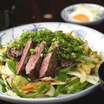 【夕食】スタミナ牛肉&野菜炒め定食