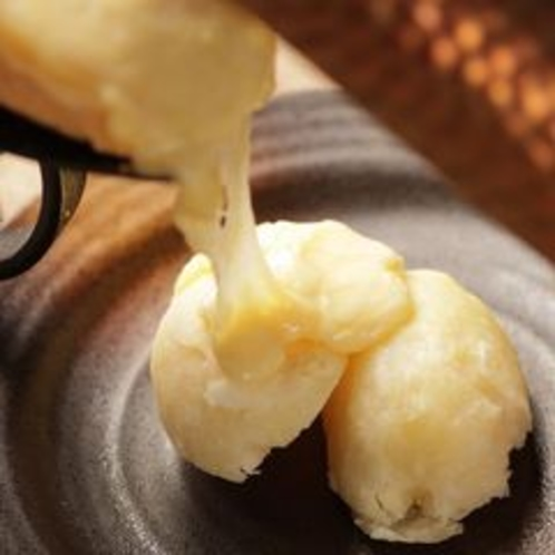 ◆夕食「新得共働学舎産ラレットチーズ」(イメージ)