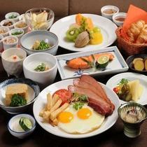 選べる朝食は4種類 和定食、洋定食、中華がゆ、コンチネンタルからお選び下さい。