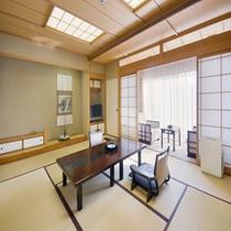 ゆったりとした和室は、8畳〜18畳