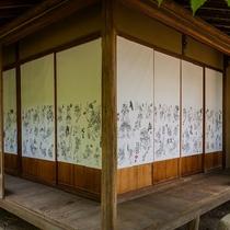 【ふなや庭園内】道後アート2016 ホテルギャラリー 武人圖(ぶじんず)