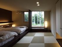 4~5名様用デラックスコテージ「テラ」の寝室(畳スペース)