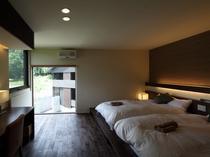 2~4名様用デラックスコテージ「ルーカス」の寝室