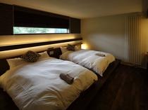 4~5名様用デラックスコテージ「ラピス」の寝室