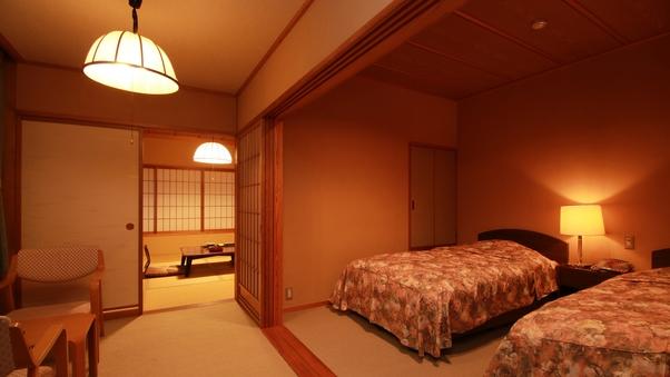 *和洋室(和室8畳+ツイン)◇Wi-Fi完備