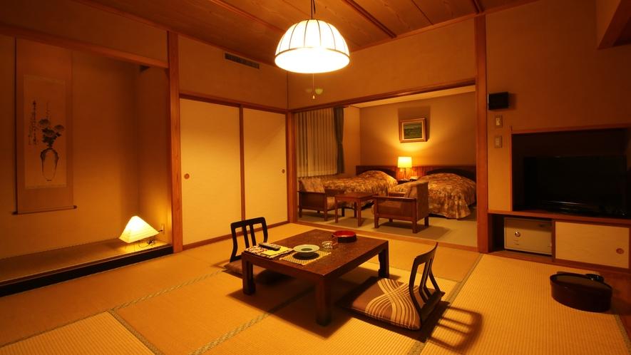 ■和洋室/和室とベッドルームでのんびりとお寛ぎいただけます。