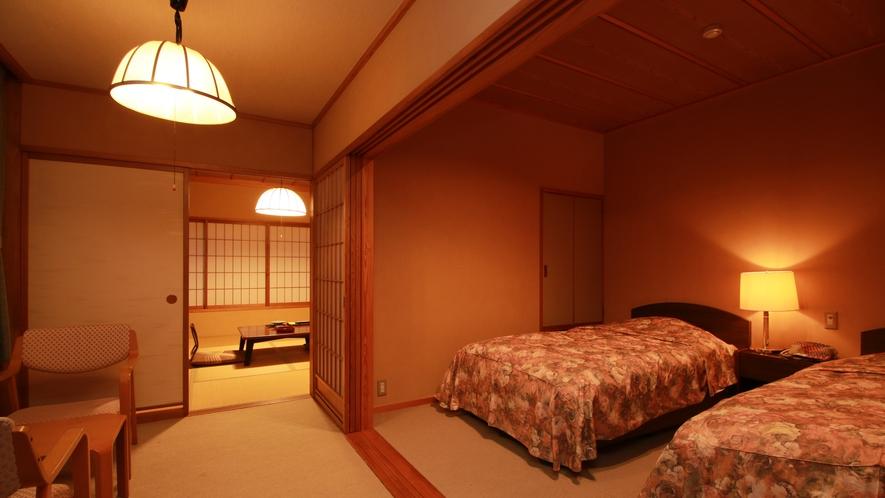 ■和洋室/広々とした和室で日頃の疲れを癒しのんびりとお過ごしください。