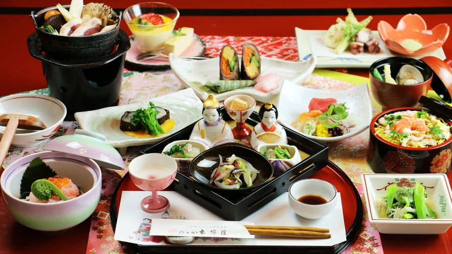 ■季節限定【雛膳-hinazen-】彩り豊かな、目にも楽しく可愛らしい雛膳。