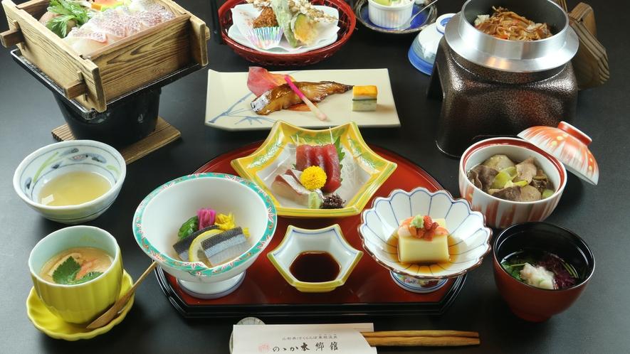 """■【季の舞-toki-】基本懐石コース。山形の""""食彩""""を楽しむこだわりの和懐石。"""