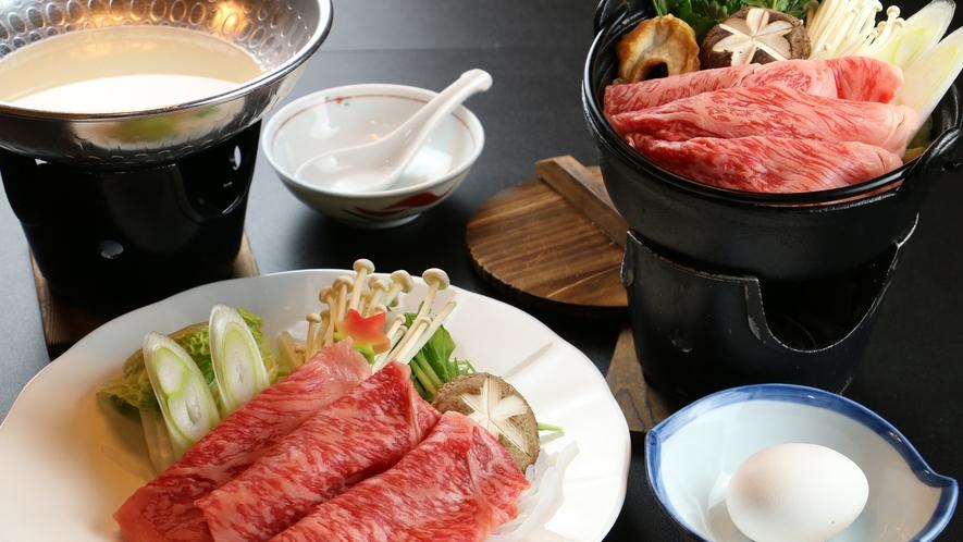 ■【彩華-saika-】期間限定のとっておきコース。山形牛をすき焼き風鍋or豆乳鍋で。