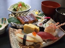 お寿司とウナギの御膳