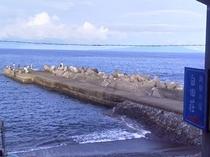 看板と堤防