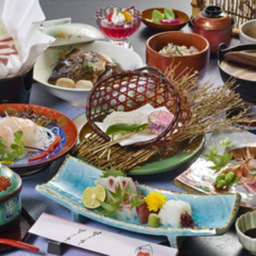 いのぶた小鍋の付いた会席料理