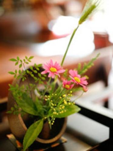 館内の生け花