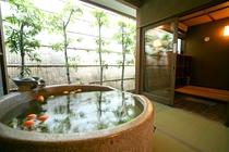 無料貸切露天風呂「月」/オレンジ・ライム風呂