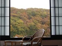 那須高原の紅葉を眼下に一望