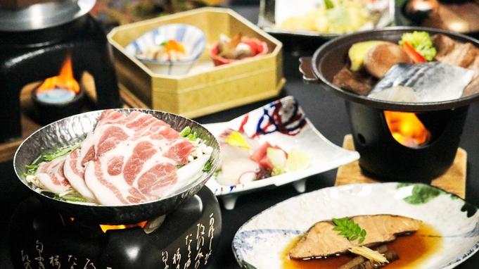 【秋のお得な会席】「新潟産四葉ポークすき鍋」「サワラの朴葉焼き」