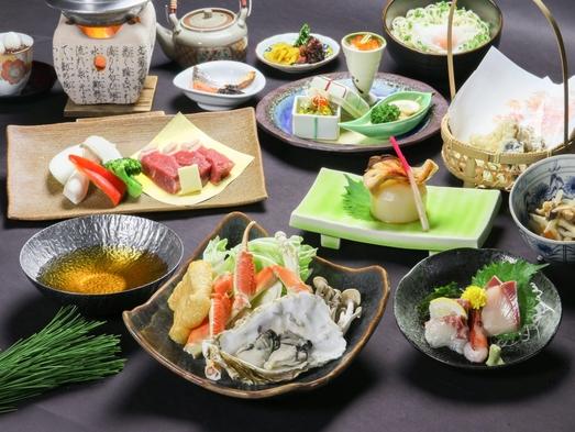 【冬のおすすめ会席】「A4新発田牛網焼き」「ホタテ&鰤つみれ鍋」そして「市場直送旬魚の煮付け」