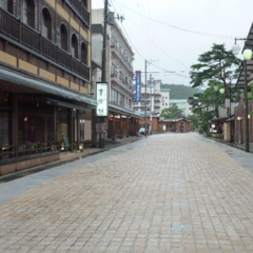 当館前の石畳