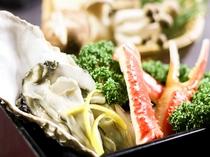 季節先取り「牡蠣とずわい蟹鍋」