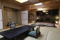 【スイート和室】平屋造りの大浴場に一番近い和室