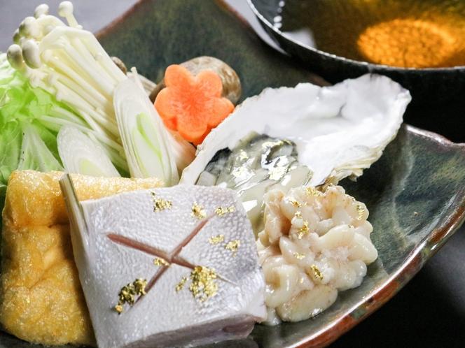 寒ぶり&牡蠣&鱈白子の宝石鍋
