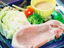 新潟産豚ロースと越乃寒梅の酒粕味噌がコラボレーション