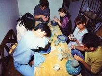 時の遊び陶芸体験