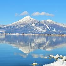 *[周辺観光]猪苗代湖と磐梯山の冬の風景