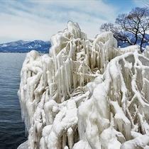 *[周辺観光]猪苗代湖のしぶき氷