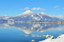 猪苗代湖の逆さ磐梯山