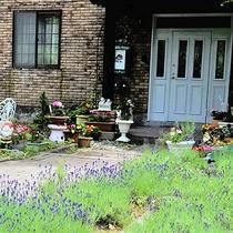 *[外観]春から夏は鮮やかなグリーンと色鮮やかなお花が楽しめるお庭