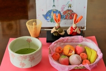 抹茶、和菓子set