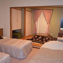 *[和洋室]畳のくつろぎスペースが快適♪4名様まで泊まれる和洋室