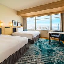 ★高層階★ 22~29階、伝統的な博多湾の色彩を取り入れ「豪華客船」をイメージした客室が誕生