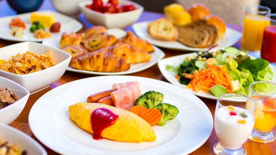 【一日の元気をチャージ!!ヒルトン自慢の朝食ビュッフェ】