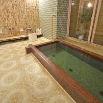 *【女湯1】天然温泉【ピント湯】です。含硫黄ナトリウム塩化物泉でお肌にいいと人気です。