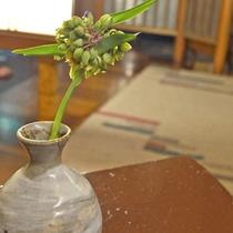 *【館内のお花1】女将がいけるお花や花木が、館内のがあちこちに。