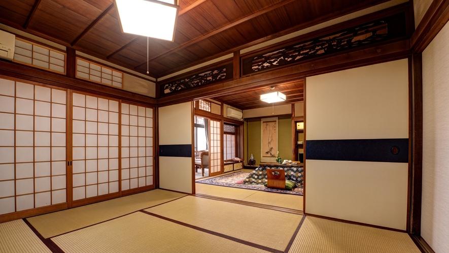 *【和室12畳BT付】和の雰囲気を楽しめるしつらいにしています。