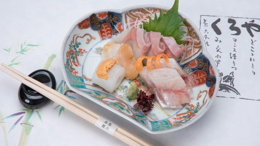 *【夕食一例】日本海の新鮮なお刺身!