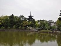 【奈良】猿沢池と興福寺