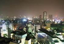 客室からの夜景 大阪駅方面