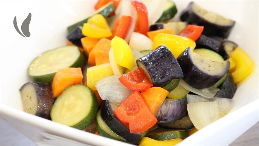 県産野菜使用【揚げ野菜のマリネ】