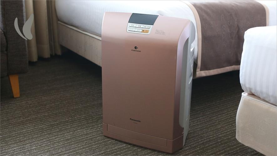 加湿機能付空気清浄機(一部客室)