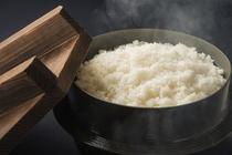 新潟県産コシヒカリの炊き立てご飯